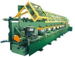 High Carbon Steel Vertical Wire Drawing Machine With Electrical Control System