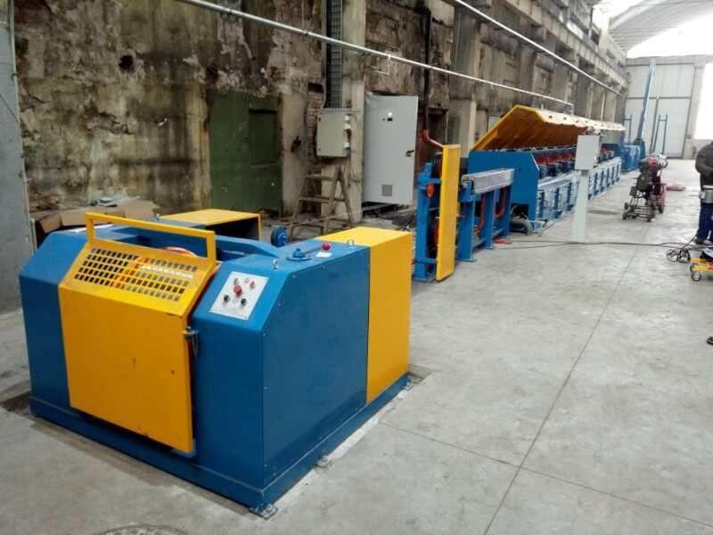 Automated Copper Wire Drawing Machine , Horizontal Welding Rod / Wire Nail Making Machine